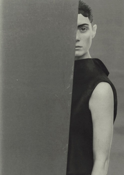 plieun:  'silhouettes' emily sandberg by peter lindbergh for vogue italia, march 1999