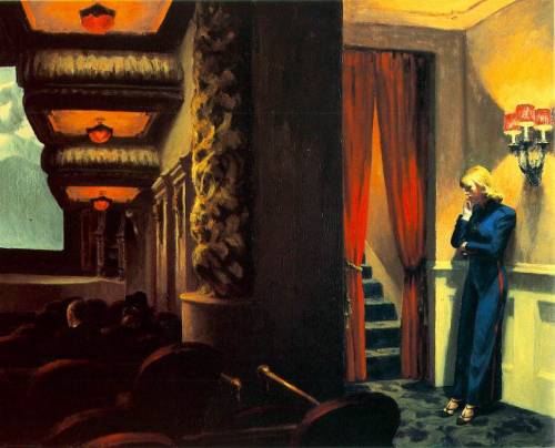 artpedia:  Edward Hopper - New York Movie, 1939. Oil on canvas