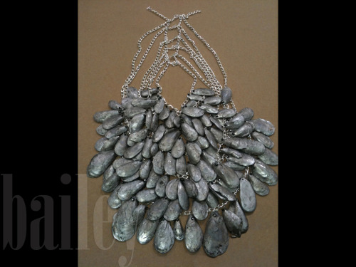 Cast Lead Necklace - cast interiors of mussel shells by Elizabeth Bailey Christenbury