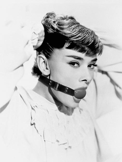 Audrey Hepburn on BDSM? Wow.
