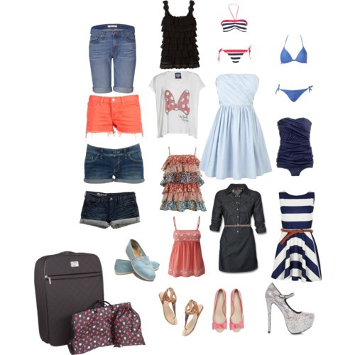 Patricia's suitcase by spazzyjazzyluvsu featuring a striped bikiniJack Wills cotton dress, $99Miso striped dress, £25Junk Food Clothing retro t shirt, £34TopRosemunde silk topJ Brand denim shorts, $205J Crew vintage bathing suit, $125J Brand short jean shorts, £106Triangle bikini, $50Madewell short shorts, $50Striped bikini, £20Madewell t strap sandals, $175Carvela satin flat, £75Toms flat, $44Steve Madden silver pumpsVera bradley luggage, $320MANGO Short denim court Jean brut, €25
