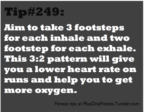 Fitness tip #249: I never knew this before, but it's a great tip! Here's where I got it from: http://www.military.com/military-fitness/workouts/breathing-during-exercise