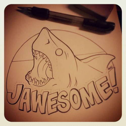 nrrrdcakkke:  What I'm working on between tattoos.  JAWESOME!!!!