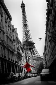 dream here, running Paris's streets with a red coat on. fun!