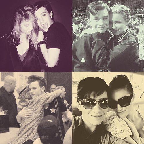 yo! Dianna Agron with my favorite gay, Chris Colfer! :D