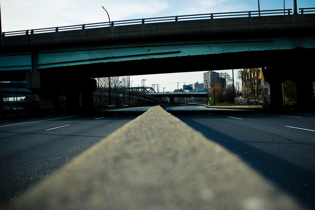 DVP Closed? on Flickr.Via Flickr: An empty Don Valley Parkway, closed for maintenance, in Toronto, Ontario