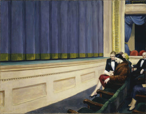 artpedia:  Edward Hopper - First Row Orchestra, 1951. Oil on canvas