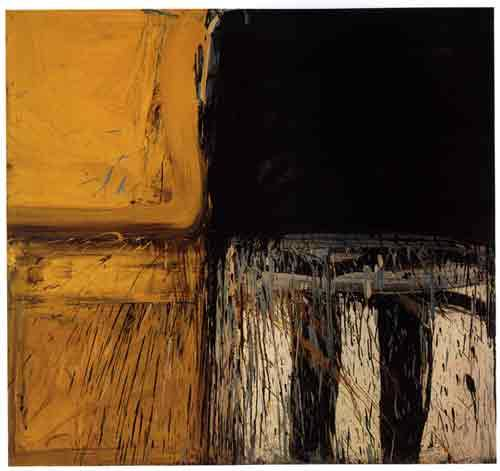 "dailyartjournal:  Alfred Leslie, ""Yellow 3rd"" (1958), oil on canvas"