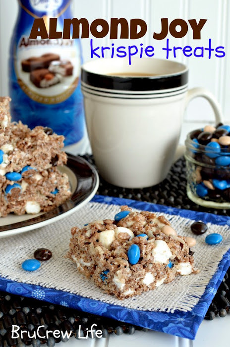 gastrogirl:  almond joy krispie treats.