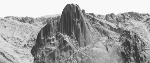 topographical renderings- American West by Dan Holdsworth