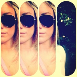 Using smart phones to do dumb things. #self #me #blonde #aviators #shades #gold #edit #bored #iphoneonly #igaddict #instagrammers #instaself #girl #blazer #picframe #multiply #spring #outdoors #weekend (Taken with instagram)