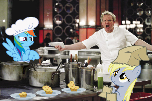 "royalcanterlotvoice:  Hell's Kitchen by ~normanb88 YOU BURNT THE MUFFINS?!OH COME ON, YOU""VE LOST THE PLOT HAVEN'T YOU!? see what I did there xD"