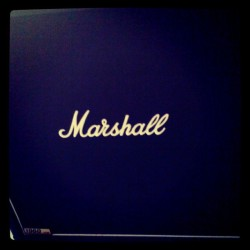 Finally, I have a cab. Marshall, Laney, Gibson fuck yeah.  (Taken with instagram)