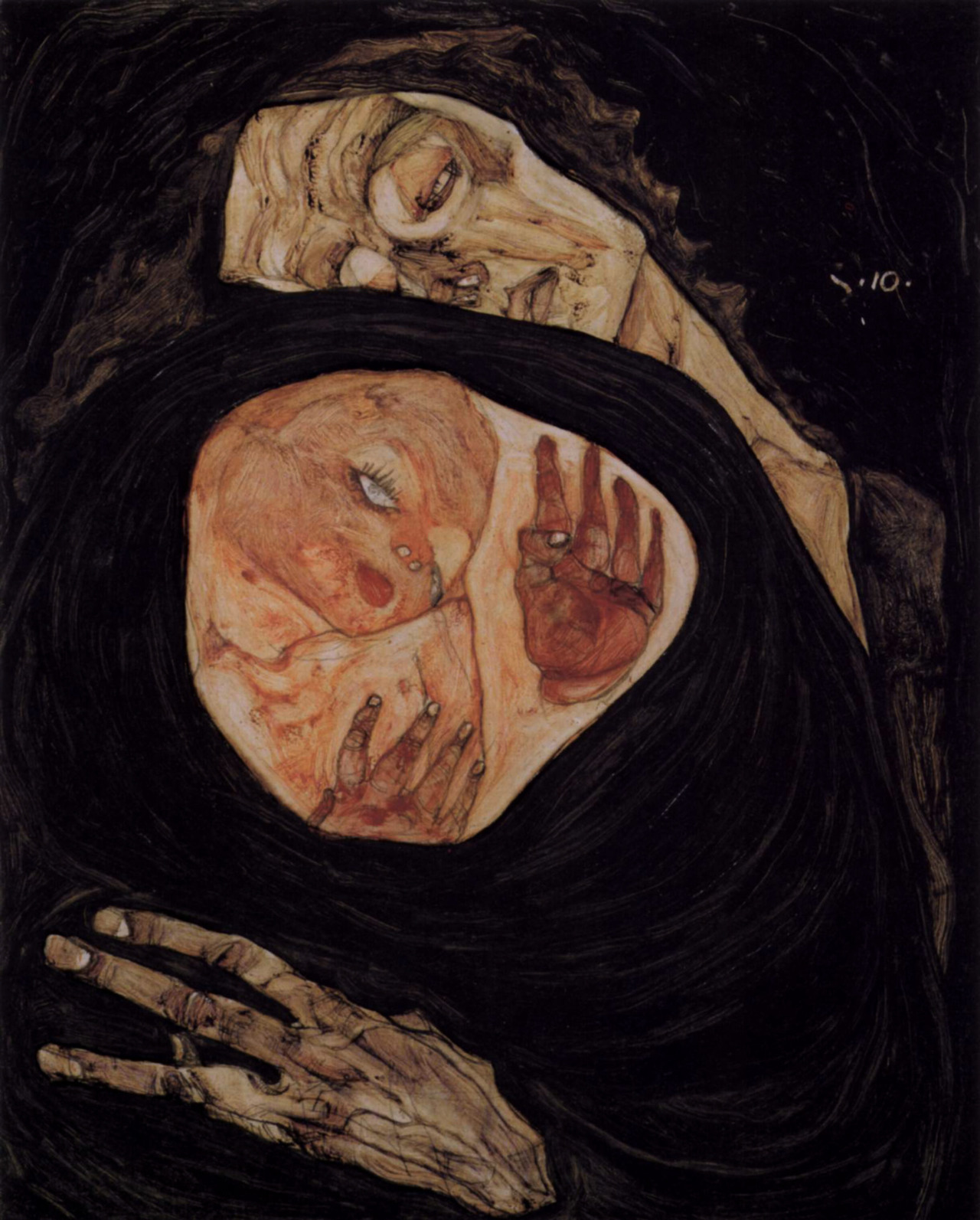 """Dead Mother"" by Egon Schiele (1910)"