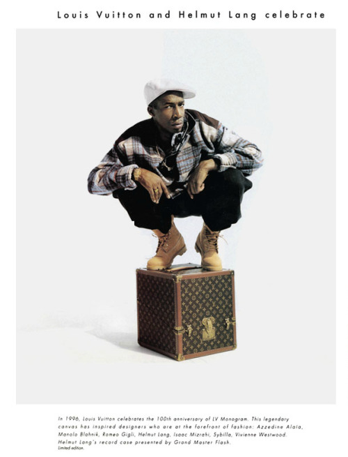 filthavenue:    Louis Vuitton x Helmut Lang Record Case (1996) Campaign featuring: Grandmaster Flash