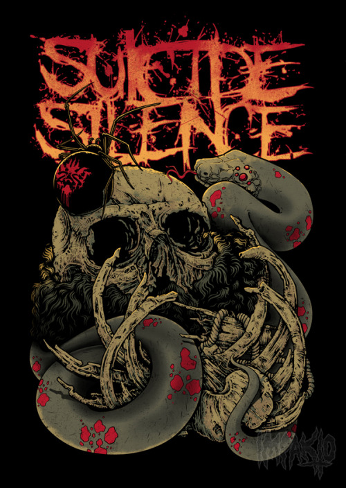 Suicide Silence ( Approved Design) Client: Ricochet Management