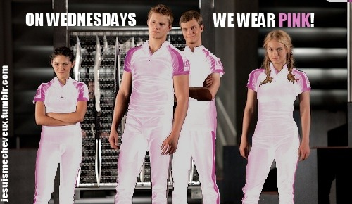 hunger-for-joshhutcherson:  pink looks good on them :)