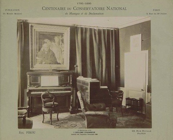 A teaching studio in the Paris Conservatoire, 1895. Source: Gallica/Bibliothèque nationale
