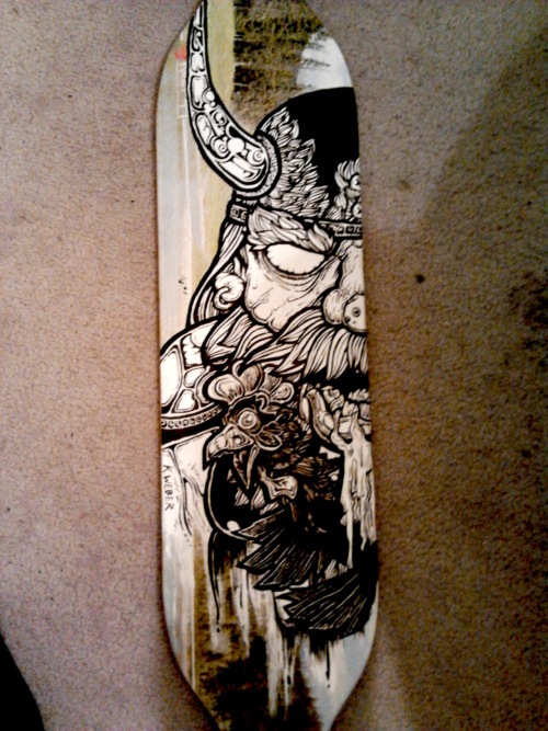 custom painted longboard I'll be selling.  Msg me if interested