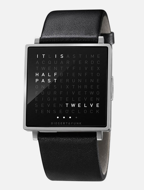 gazzelle:  (via QLOCKTWO watch)