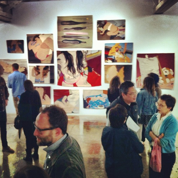 Opening reception for Hilary Pecis and Erin Riley.  #hilarypecis #erinriley #guerrerogallery (Taken with Instagram at Guerrero Gallery)