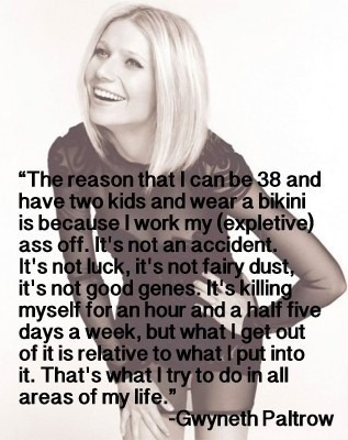 Gwyneth on staying fit.