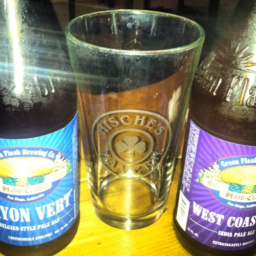 This is how I'm ending the evening #greenflash (Taken with Instagram at Mancave Of The James)