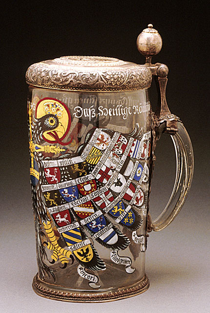 omgthatartifact:  Tankard with the Arms of the Holy Roman Empire Germany, 1743 The Los Angeles County Museum of Art