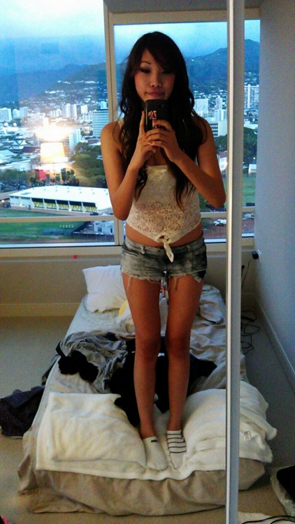 outfit of the night.  Really messy bed -_-.