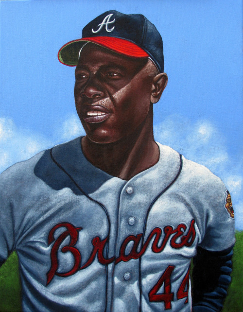 Hank Aaron painting.