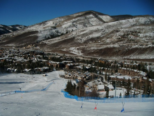 The overwhelming look of the race course that's sets a ski racer's mind to finish! White mountain does that for you ;)