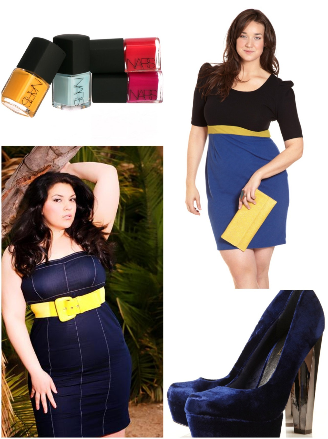 Add a pop of yellow with your blues makes you look Awsome and great color combination!!