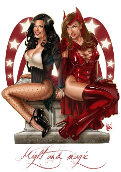 renamok:  SCARLET WITCH - ZATANNA by *J-Estacado