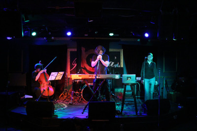 A beautiful, panoramic shot of 'The Thawing' Album Release show by @SVerdure (Sam Verdure) Listen here: http://bit.ly/A86I6A