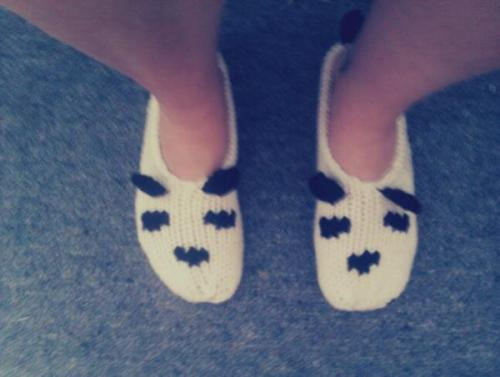 look at my cutie patootie socks