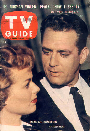 driveintheaterofthemind:  Vintage Magazine - TV Guide with Perry Mason  Barbara Hale & Raymond Burr