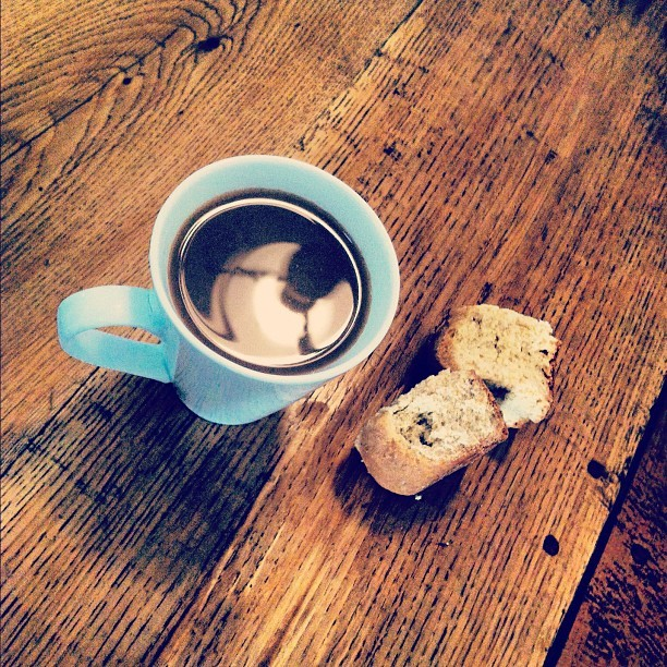 filter coffee and rusks. breakfast of lazy champions.  (Taken with instagram)