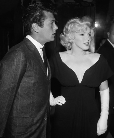 theniftyfifties:  Tony Curtis and Marilyn Monroe