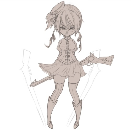 "mami again…. chibi again… oops ""OTLWill try to actually color this one, though!"