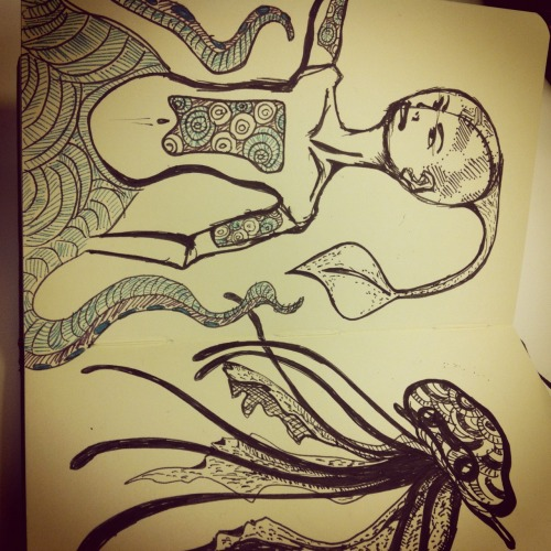 octopus-man and jellyfish.
