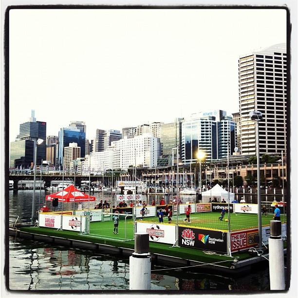 Football on Water (Taken with instagram)