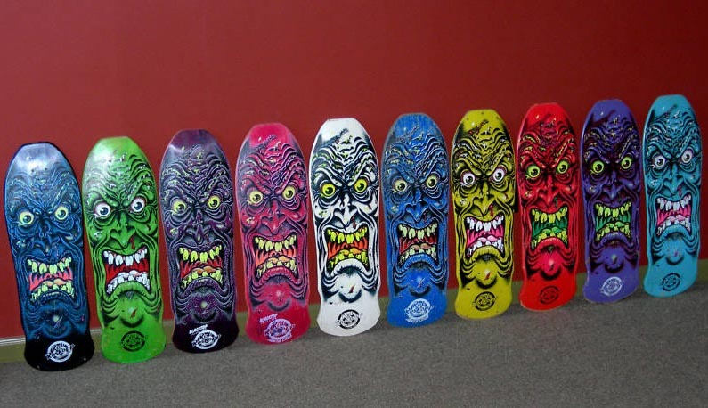 old-school Santa Cruz deck lineup. sickness