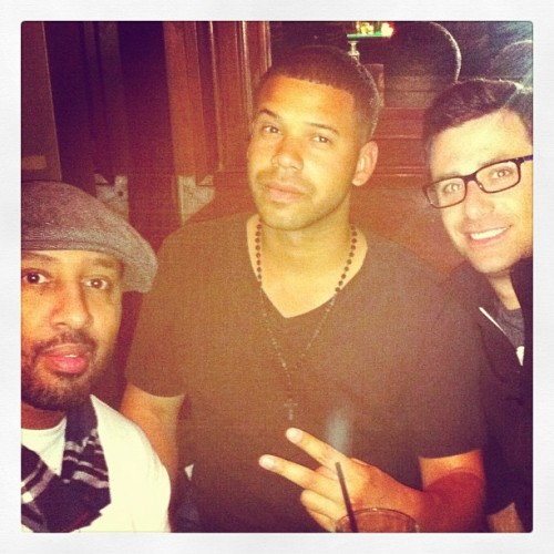 Guys night out chillin with @SethHendrix and @JustJohnOllie #Comedy (Taken with instagram)