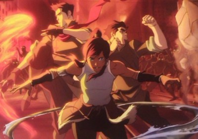 "Korra as Katniss: ""with long black hair, boyish"" Mako as Gale: ""Tall, lean, muscular"" Bolin as Peeta: ""Medium height, stocky""  and they're in a love triangle.. If you didn't watch the show, just read the books, don't you think their description fits perfectly? :>"