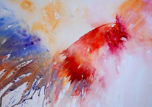 MARVELOUS COCKS. By Jean Haines. You go Jean Haines. http://www.jeanhaines.com/gallery