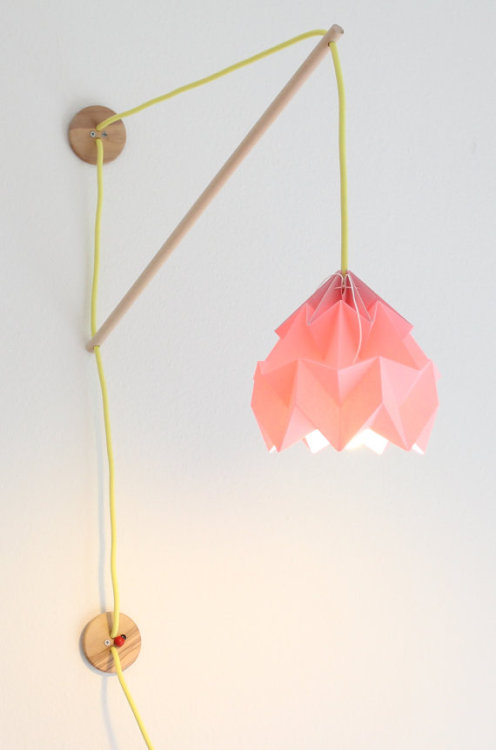 batixa:  (via Wall fixture Klimoppe with paper lamp Moth by nellianna on Etsy)
