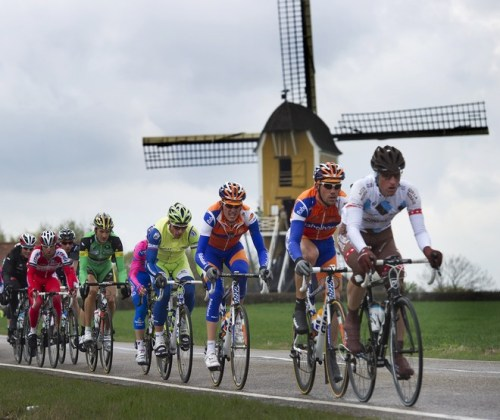 Dutch cyclist Maarten Tjallingii (2nd R) rides ahead of Dutch cyclist Robert Gesink (3rd R) during the 47th edition of the Amstel Gold Race in Maastricht, southern Netherlands, on April 15, 2012. The Amstel Gold Race is a one-day cycling course of 256 km long and 31 small climbs. AFP PHOTO / ANP / TOUSSAINT KLUITERS ***NETHERLANDS OUT*** (via Dutch Cyclist Maarten Tjallingii (2nd R) Rides - Yahoo! Sports Photos)