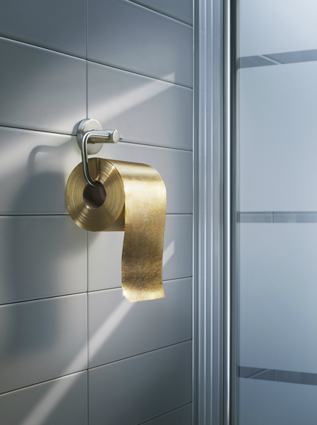 Blingin' gold toilet paper by Jean-Louis von Dardel.  (via trendland)