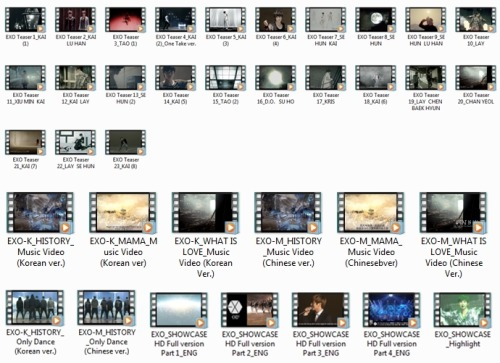 exo's video collection from official SMTOWN