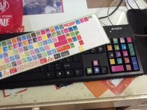 Cute keyboard stickers I bought from Digibabe